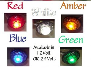 LED PENNY LIGHTS – 5 Colours – 12V or 24V | Car Rubber Kits Gold Coast | Car Rubber Seals | Better Auto Rubber