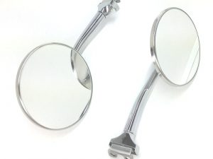 Classic 4 inch Round Straight Arm Peep Mirrors PAIR