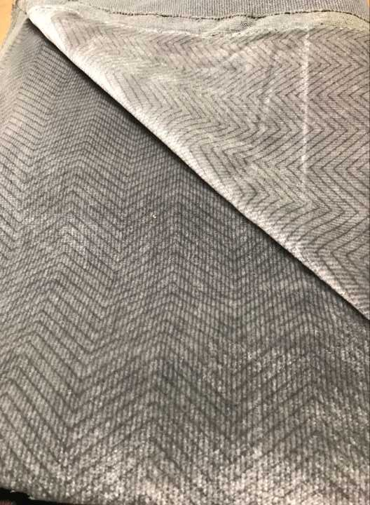 CLEARANCE Vehicle Velours and Fabrics — Suits for Ford Ghia , Color Grey, 5 meters long, Chevron Stripes, Nice Quality!   Car Rubber Kits Gold Coast   Car Rubber Seals   Better Auto Rubber