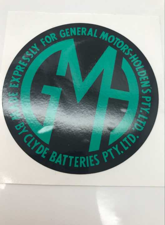 Holden Decal FX- FJ -FE- FC- FB- EK -EJ -EH GMH Battery | Car Rubber Kits Gold Coast | Car Rubber Seals | Better Auto Rubber