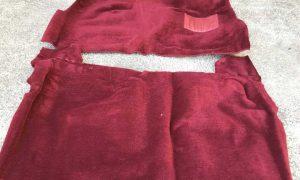 XA XB XC XD XE XF Ford Falcon Sedan Wagon Column Shift Moulded Carpet Set RED PLUSH PILE
