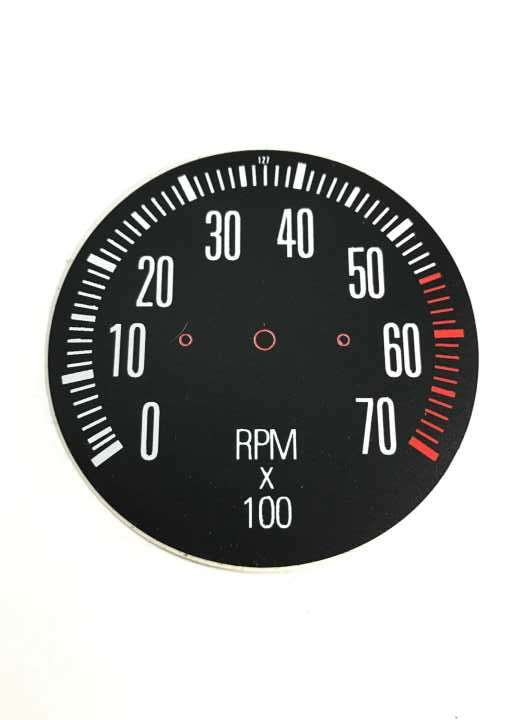 HK GTS 7000 RPM TACHO FACE DECAL | Car Rubber Kits Gold Coast | Car Rubber Seals | Better Auto Rubber