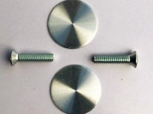 Window Winder Handle Finishing Disk and Screw PAIR for XR XT XW XY Ford Falcon