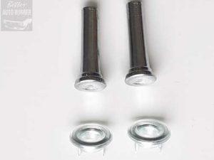 Holden Chrome Door Lock Knobs + Surrounds PAIR (4 pieces)