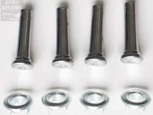 Holden Chrome Door Lock Knobs + Surrounds - 4 Pack (8 Pieces)